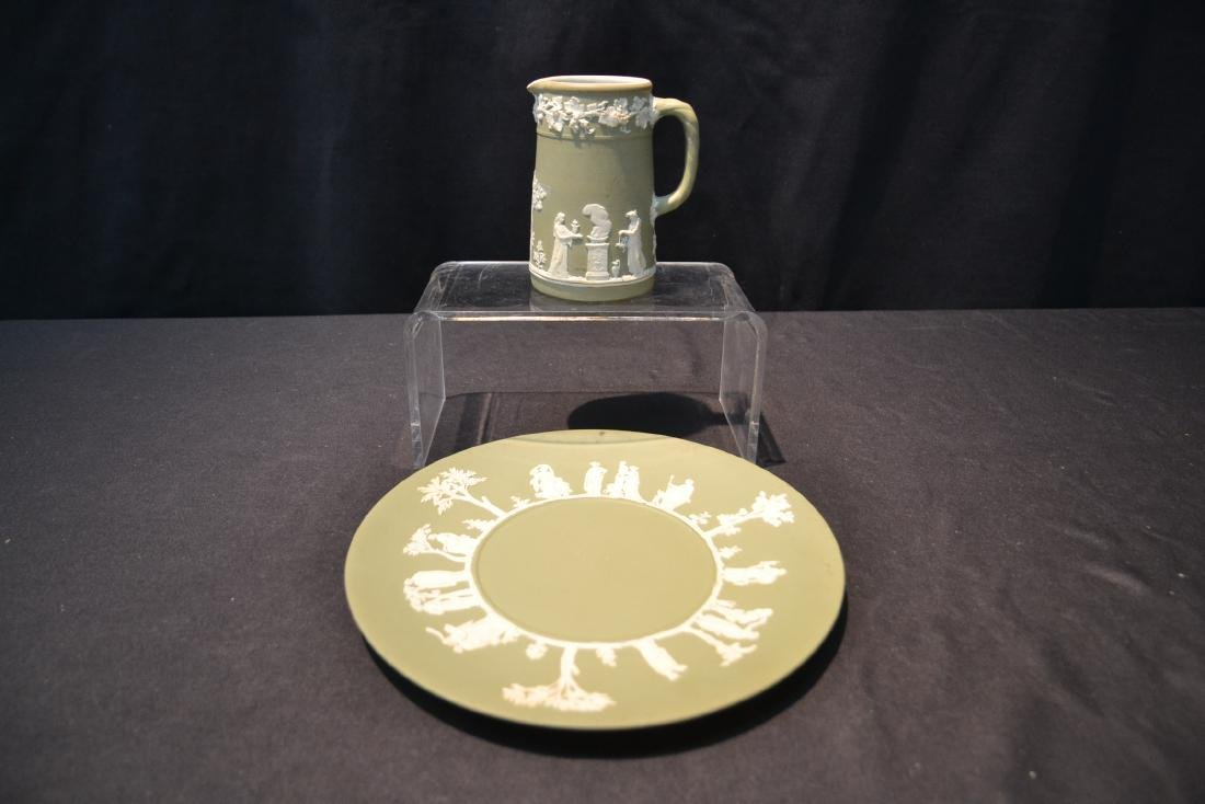 EARLY GREEN WEDGWOOD - ENGLAND PITCHER & - 3