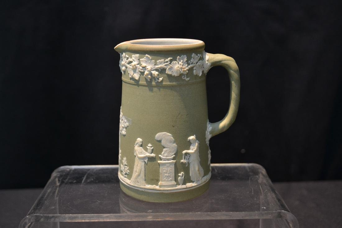 EARLY GREEN WEDGWOOD - ENGLAND PITCHER & - 4