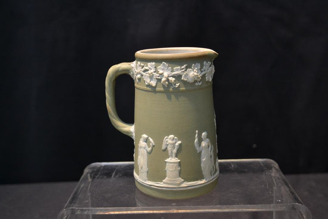EARLY GREEN WEDGWOOD - ENGLAND PITCHER & - 5