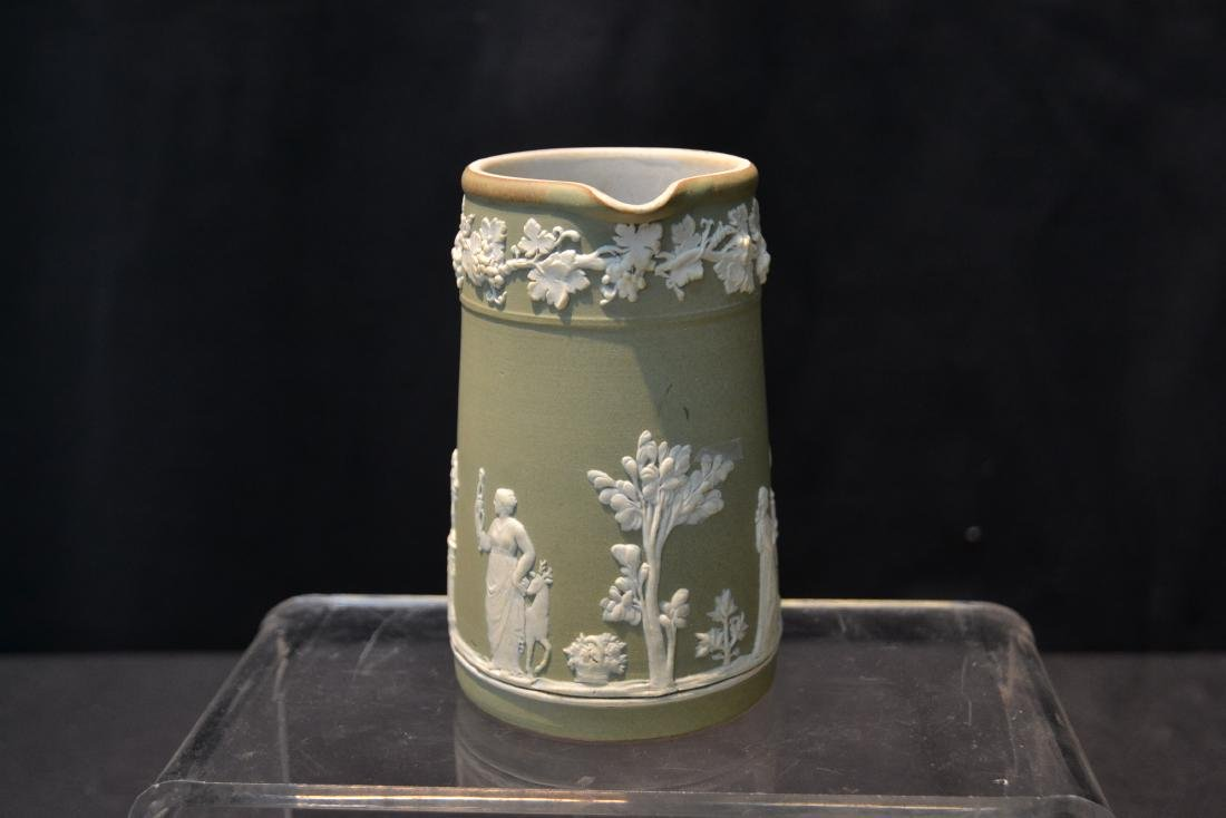 EARLY GREEN WEDGWOOD - ENGLAND PITCHER & - 6
