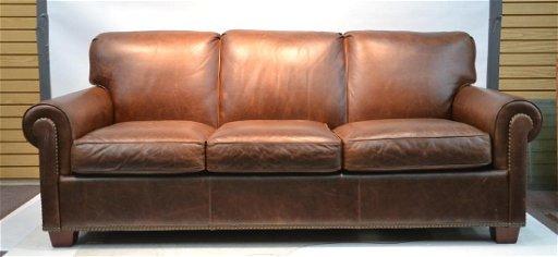 Thomasville Leather 3 Seat Benjamin