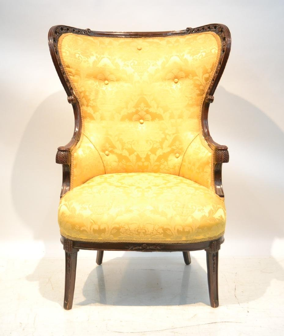 """VICTORIAN UPHOLSTERED CHAIR - 27"""" x 30"""" x 44"""""""