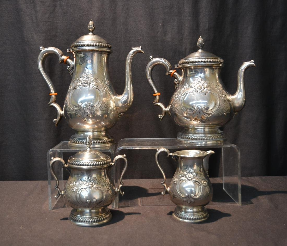 (4) ROGERS STERLING SILVER TEA SERVICE