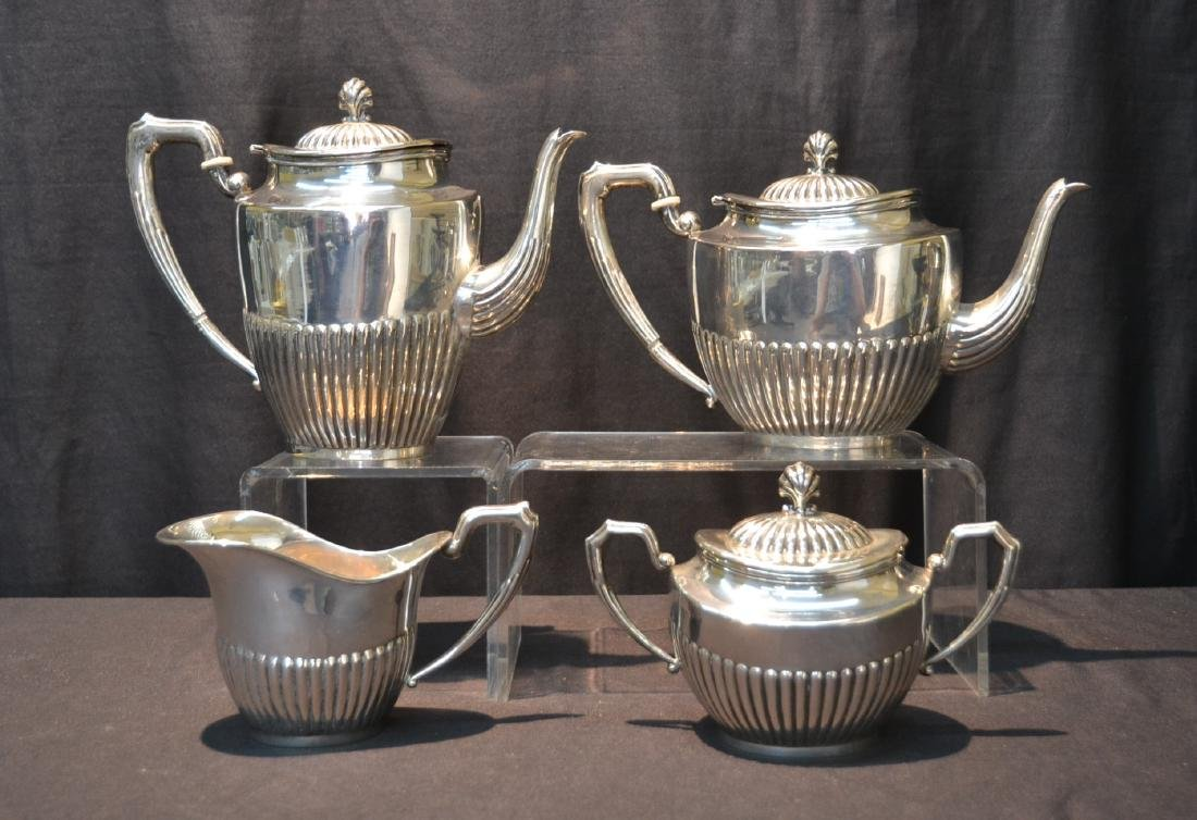 (4) 800 SILVER TEA SERVICE CONSISTING OF