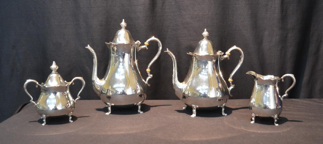 (4)c STERLING PREISSNER FOR CARTIER TEA SERVICE