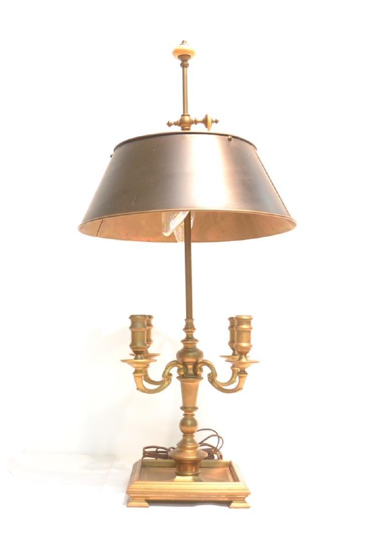 """BRONZE BOUILLOTTE LAMP - 14"""" x 33"""""""