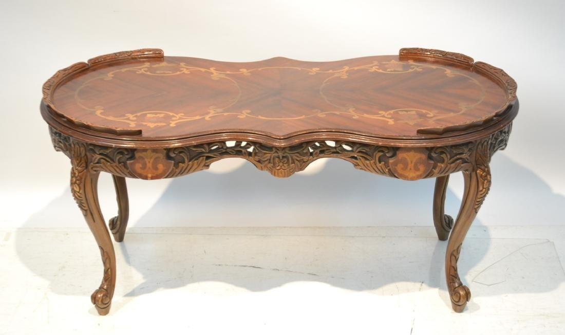 "INLAID COFFEE TABLE - 38"" x 19"" x 19"""