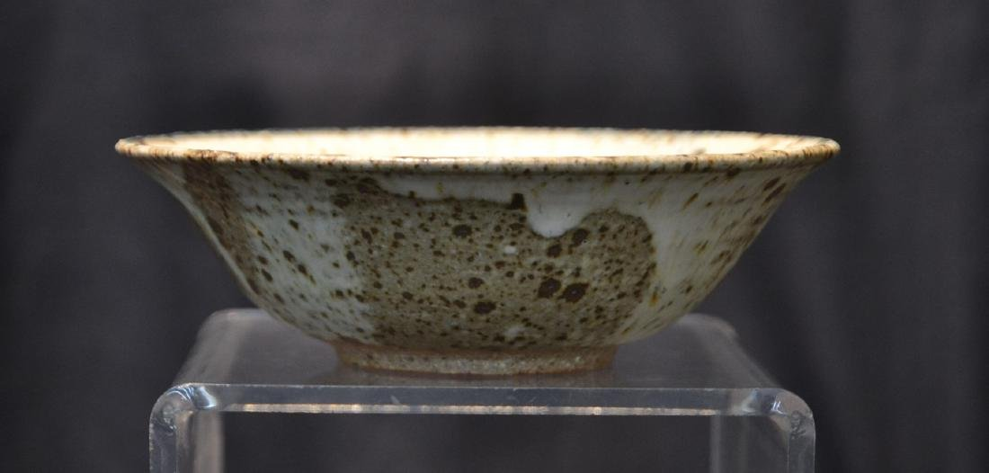 "CHINESE POTTERY FINGER BOWL - 6"" x 2"""