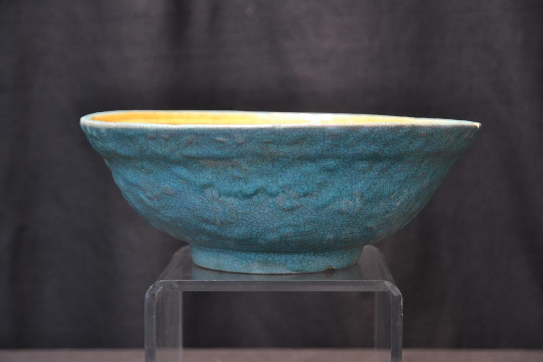 "CHINESE POTTERY BOWL - 9"" x 3 1/2"""