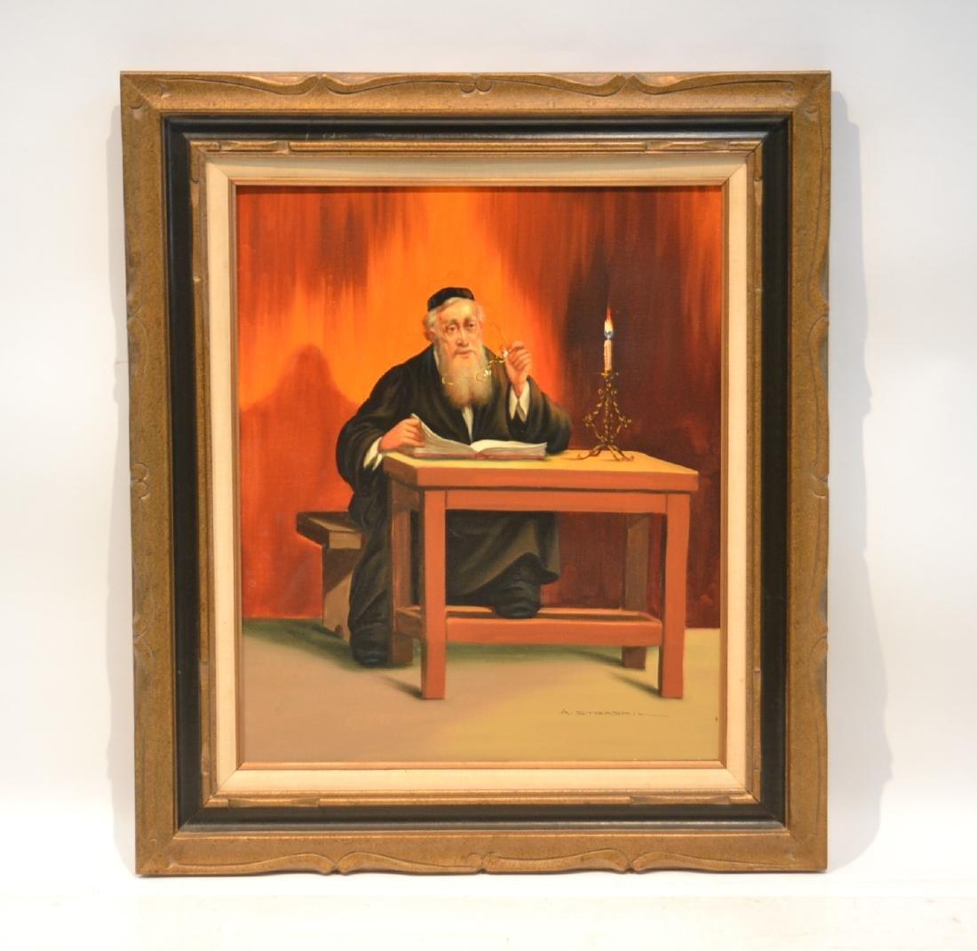 ABRAHAM STRASKI (Poland, 1903-1987) OIL ON CANVAS