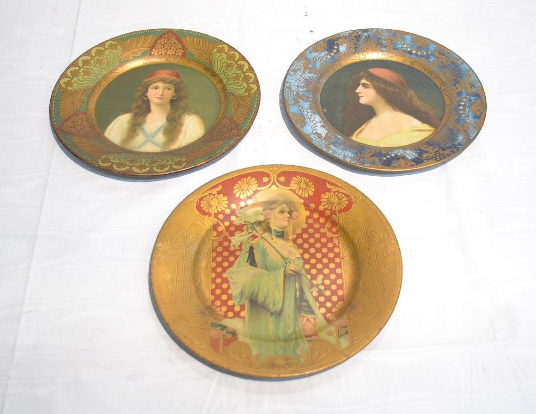 (3) VIENNA TIN LITHOGRAPHED ART PLATES