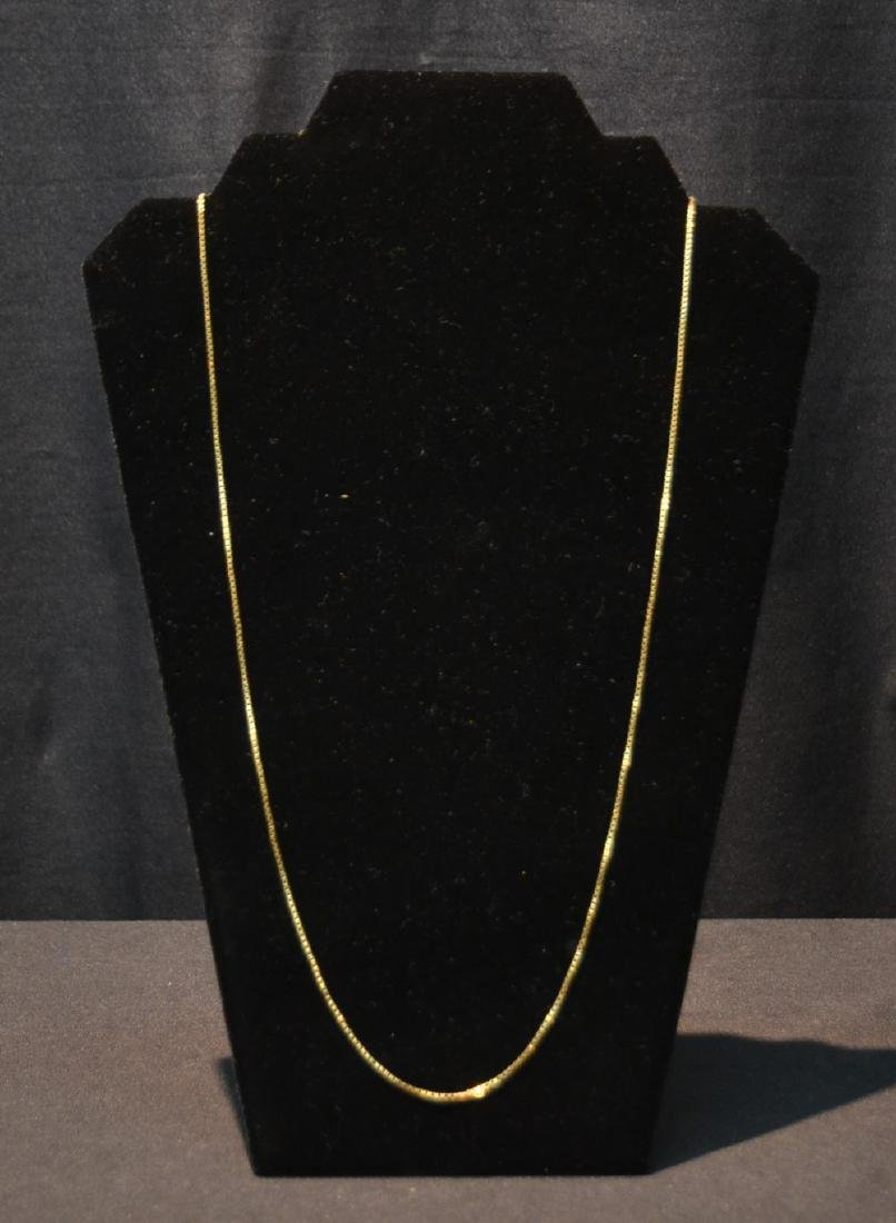 "27"" 18kt GOLD ROPE CHAIN - 10grams"