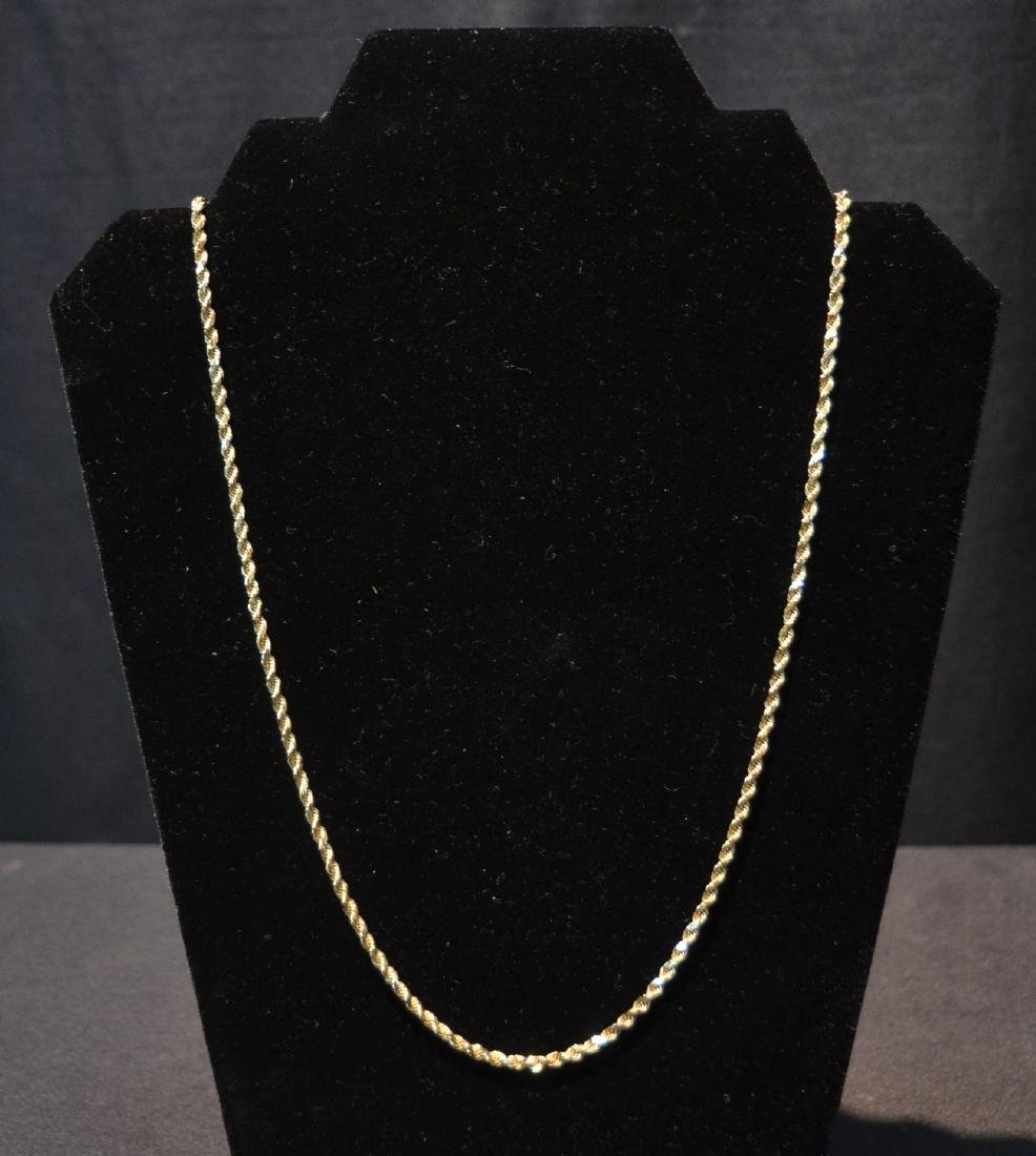 "14kt GOLD ROPE CHAIN - 24"" LONG ; 19.5grams"