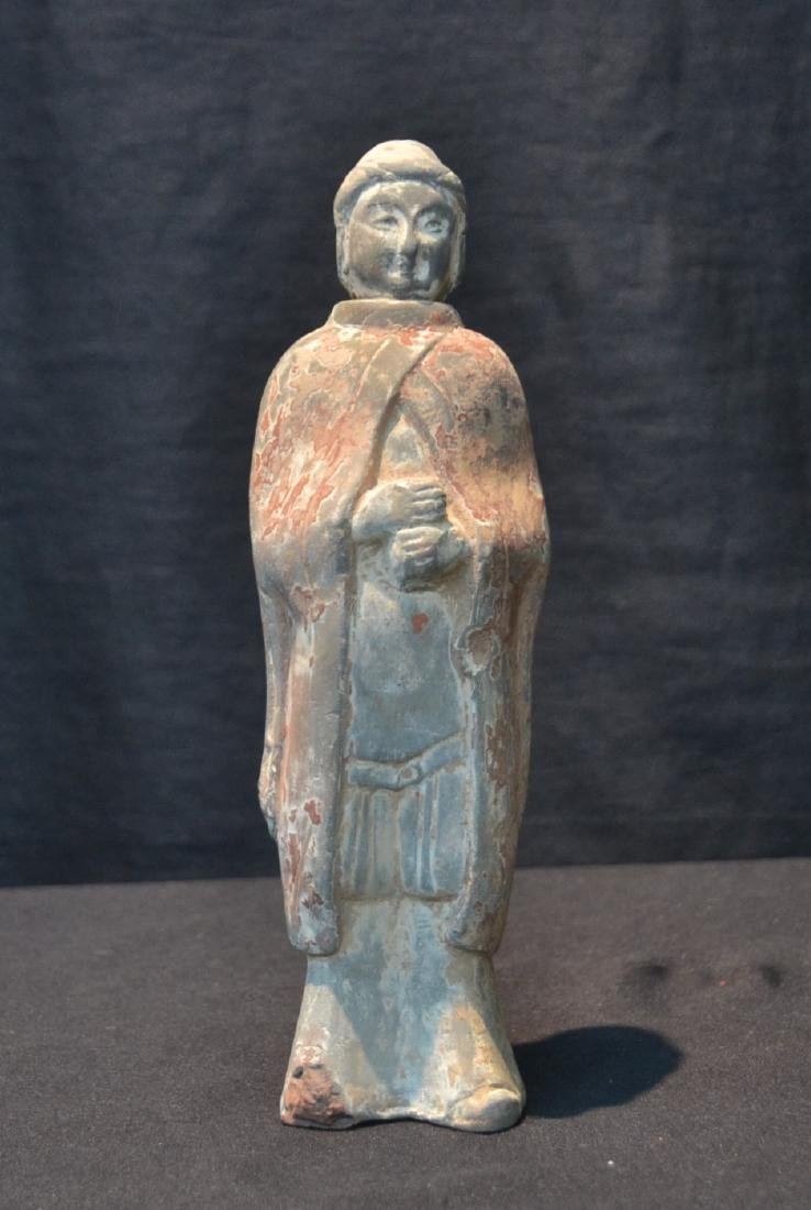 "TANG DYNASTY TERRACOTTA FIGURE - 3"" x 9"""