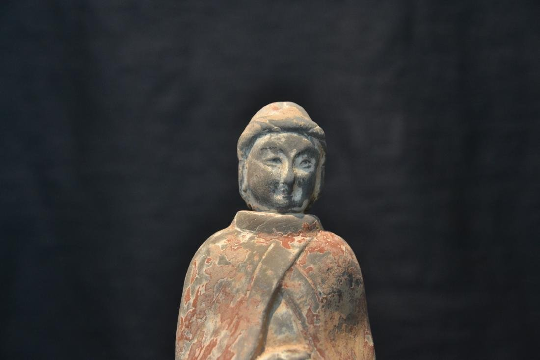 "TANG DYNASTY TERRACOTTA FIGURE - 3"" x 9"" - 4"
