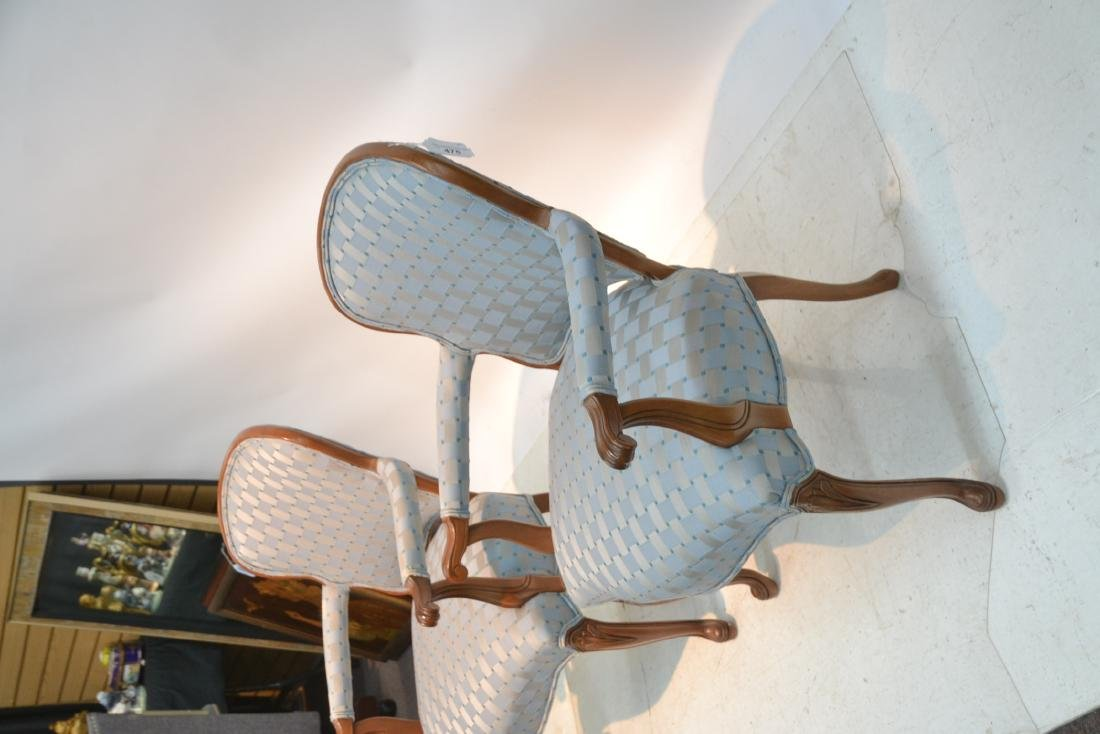 """(Pr) UPHOLSTERED ARM CHAIRS - 25"""" x 17"""" x 34"""" - 4"""