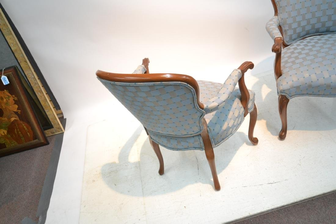 """(Pr) UPHOLSTERED ARM CHAIRS - 25"""" x 17"""" x 34"""" - 7"""