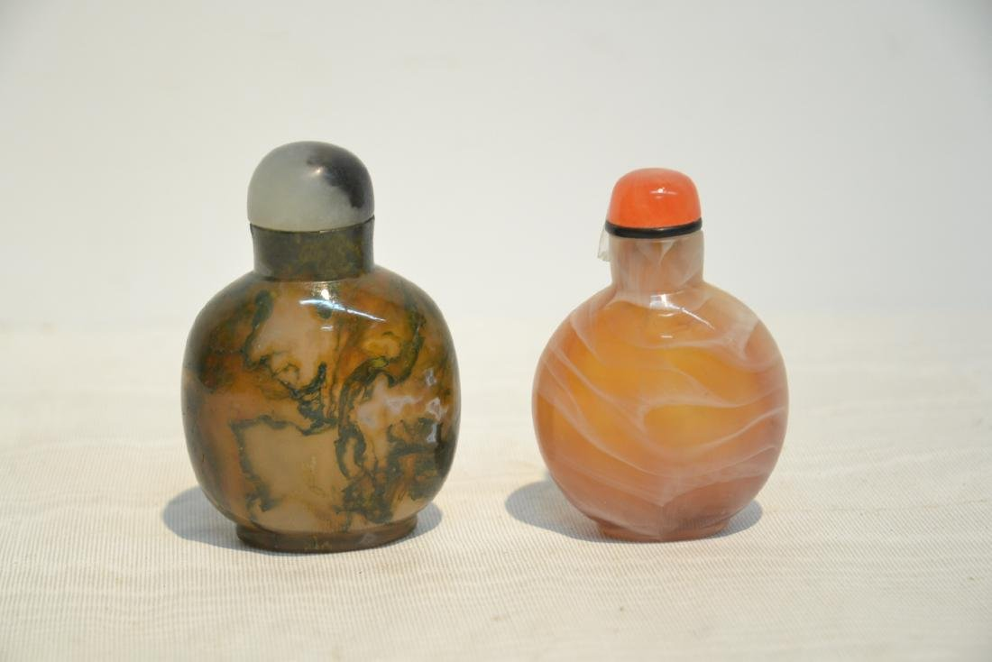 "(2) EARLY 19thC SNUFF BOTTLES - 2"" x 3"" - 6"