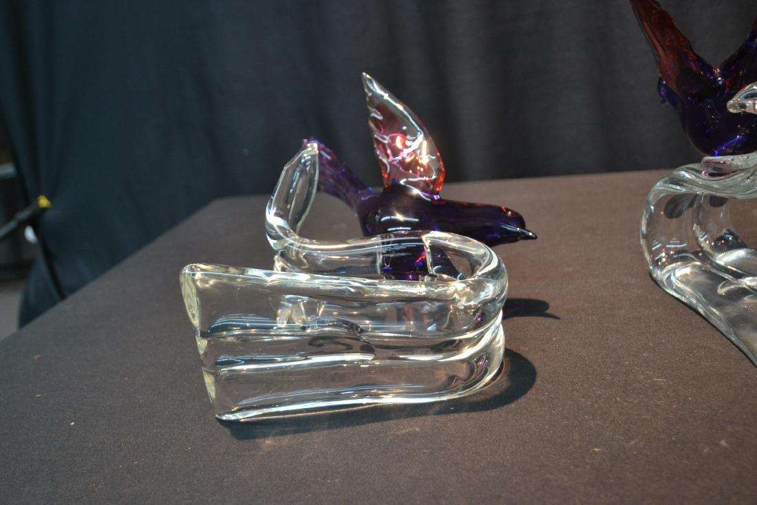 """(Pr) MURANO GLASS BIRDS - 6"""" x 7 1/2"""" x 10 1/2"""" - 6"""