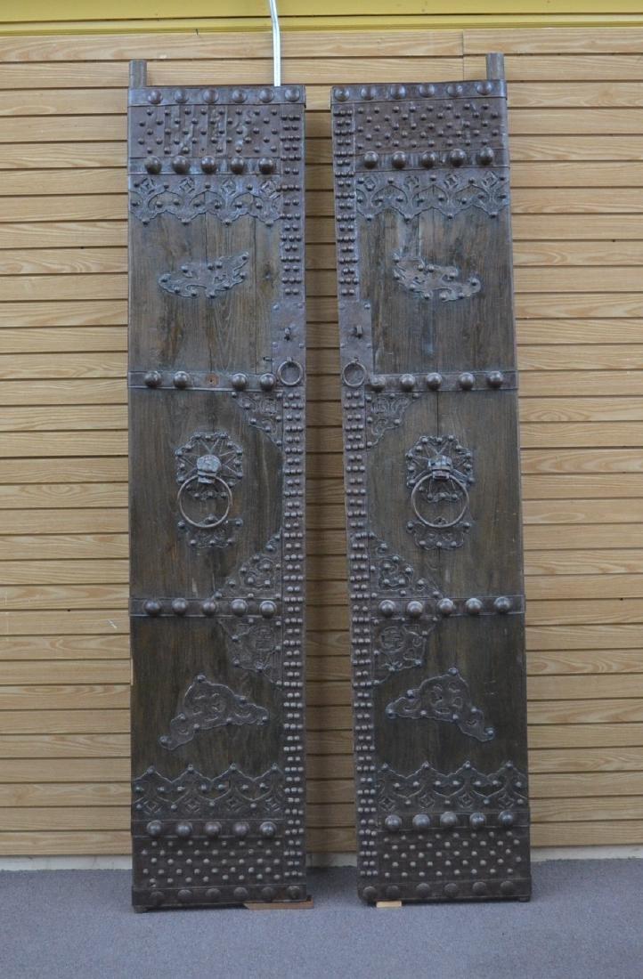 (Pr) LARGE WROUGHT IRON MOUNTED DOORS