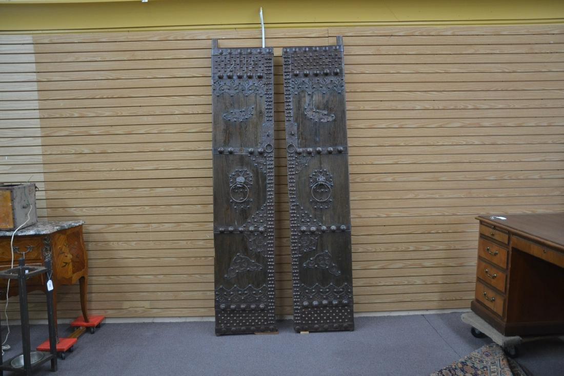 (Pr) LARGE WROUGHT IRON MOUNTED DOORS - 2