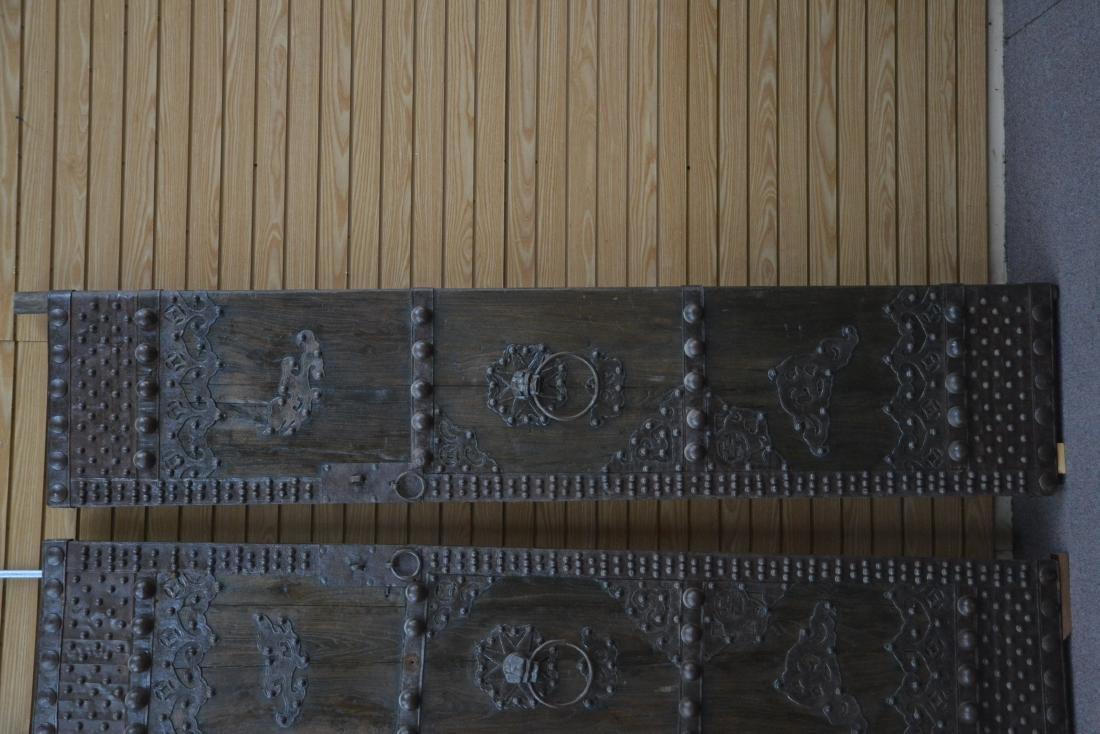 (Pr) LARGE WROUGHT IRON MOUNTED DOORS - 4