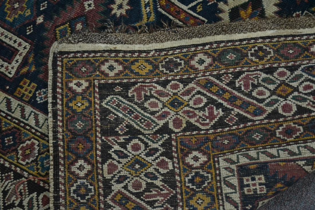 "3' 9"" x 5' 3"" ANTIQUE CAUCASIAN RUG - 10"
