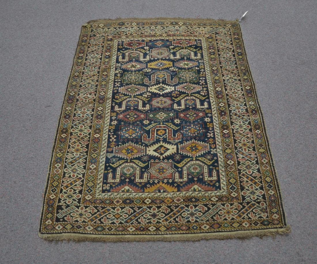"3' 9"" x 5' 3"" ANTIQUE CAUCASIAN RUG"