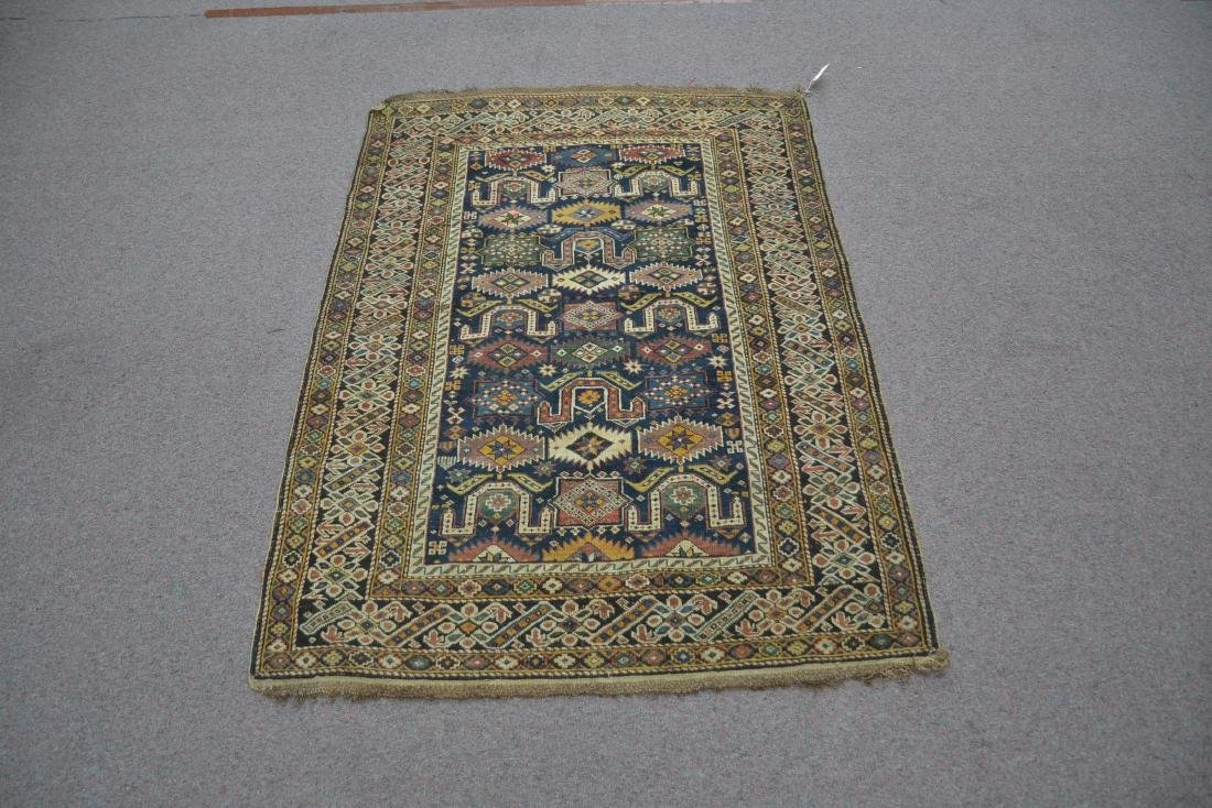 "3' 9"" x 5' 3"" ANTIQUE CAUCASIAN RUG - 2"