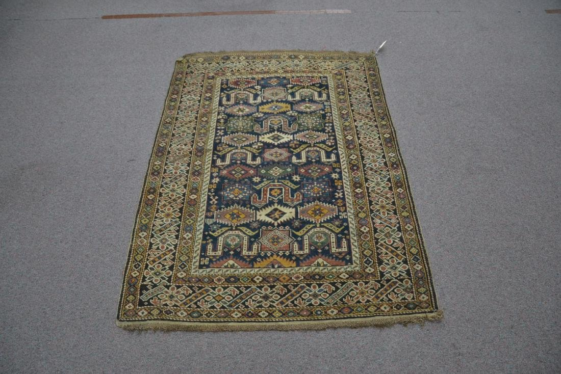 "3' 9"" x 5' 3"" ANTIQUE CAUCASIAN RUG - 3"