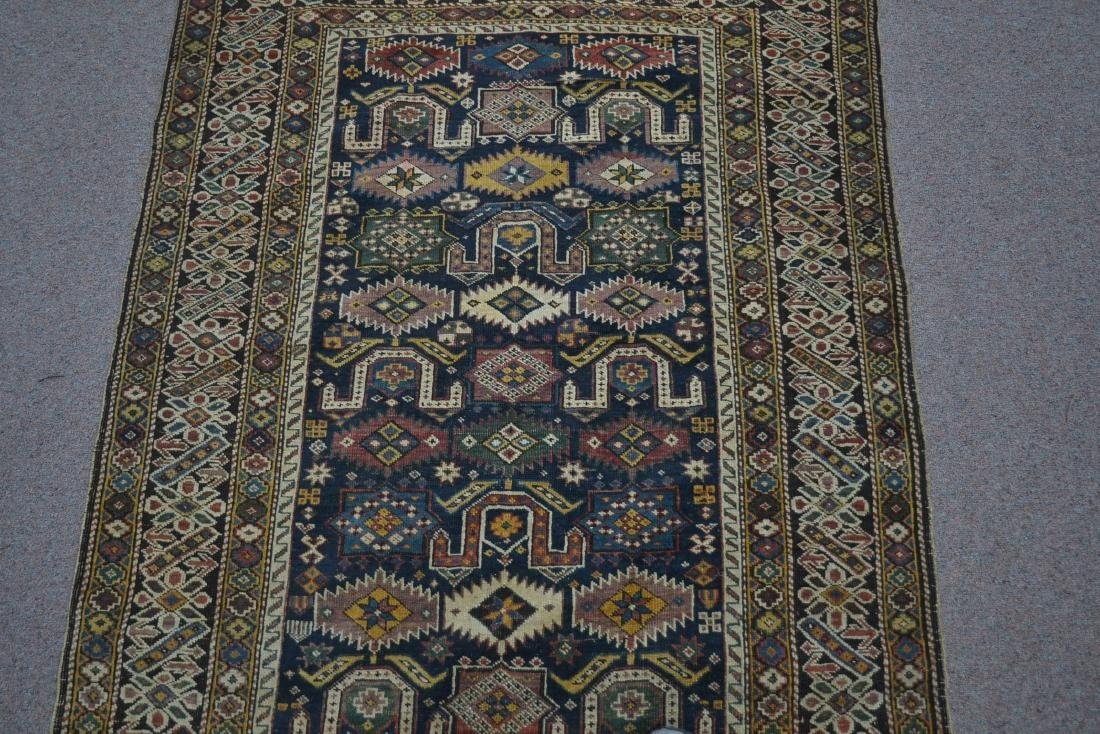 "3' 9"" x 5' 3"" ANTIQUE CAUCASIAN RUG - 6"