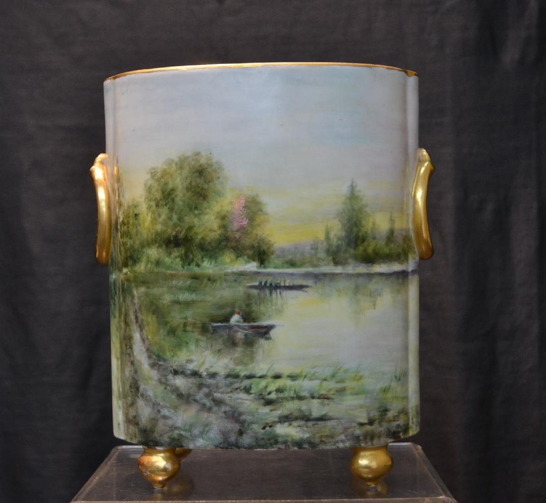 HAND PAINTED WILLIAM GEURIN & Co. LIMOGES VASE