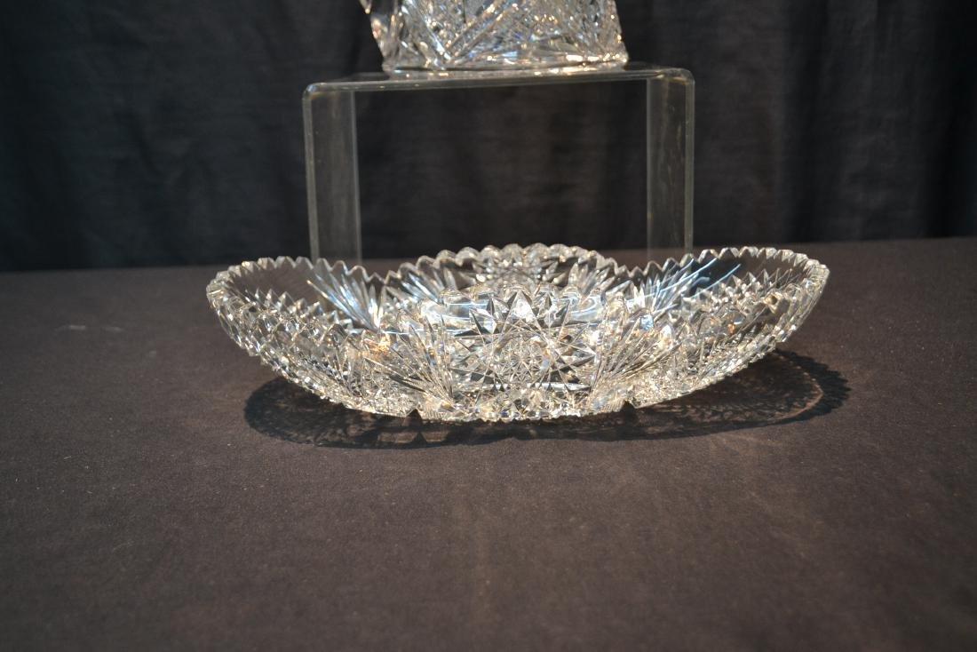AMERICAN BRILLIANT CUT GLASS BASKET & PITCHER - 4
