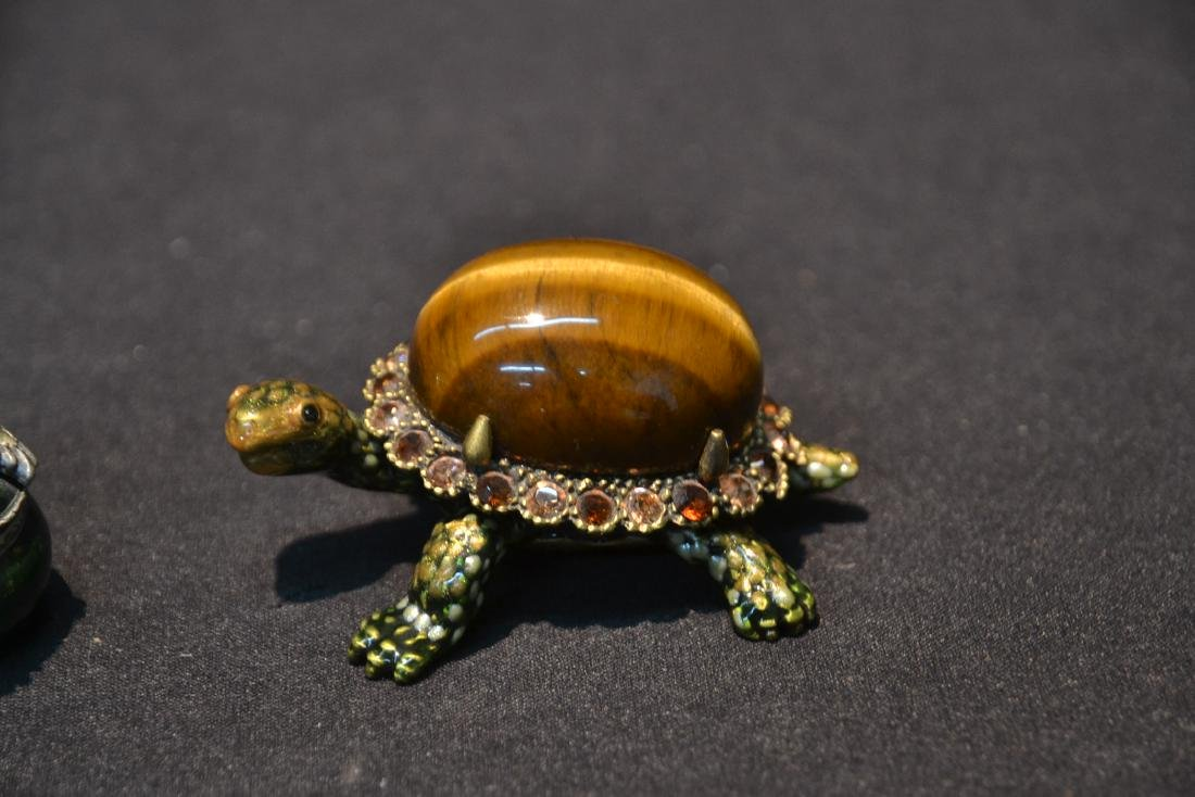 JAY STRONGWATER ENAMELED TURTLE & FROG BOXES - 3