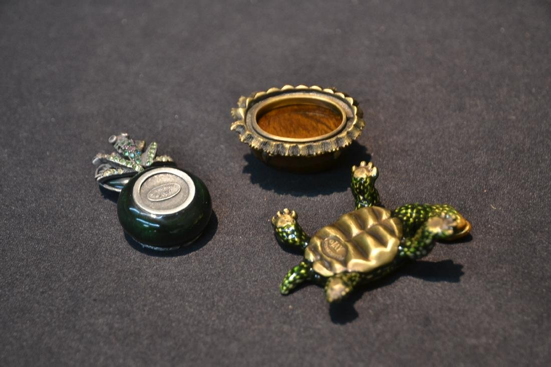 JAY STRONGWATER ENAMELED TURTLE & FROG BOXES - 9