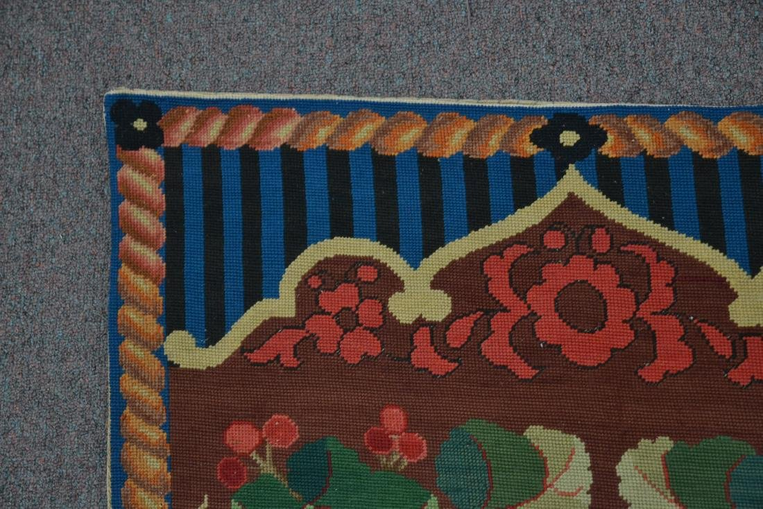 """FLORAL NEEDLEPOINT RUG - 2' 5"""" x 5' (OFF CENTER) - 7"""