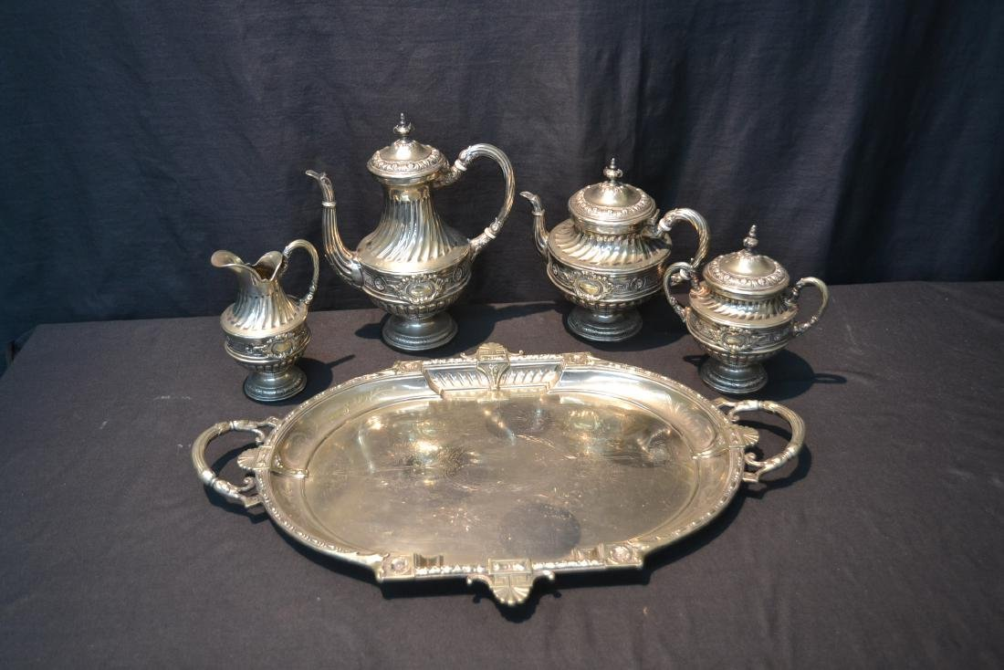 WMF SILVER PLATE TEA SET CONSISTING OF - 10
