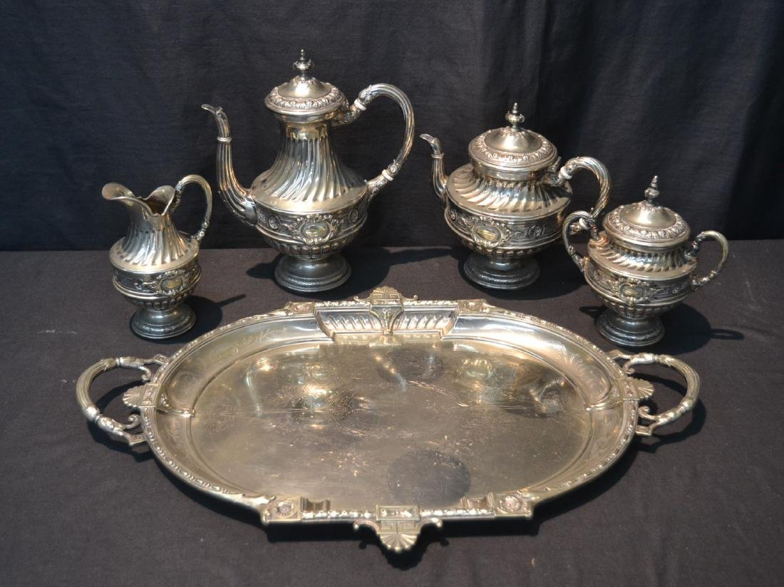 WMF SILVER PLATE TEA SET CONSISTING OF