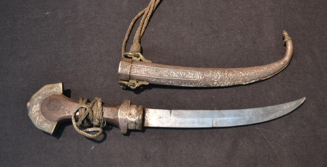 """MIDDLE EASTERN SILVER DAGGER - 5"""" x 14"""""""