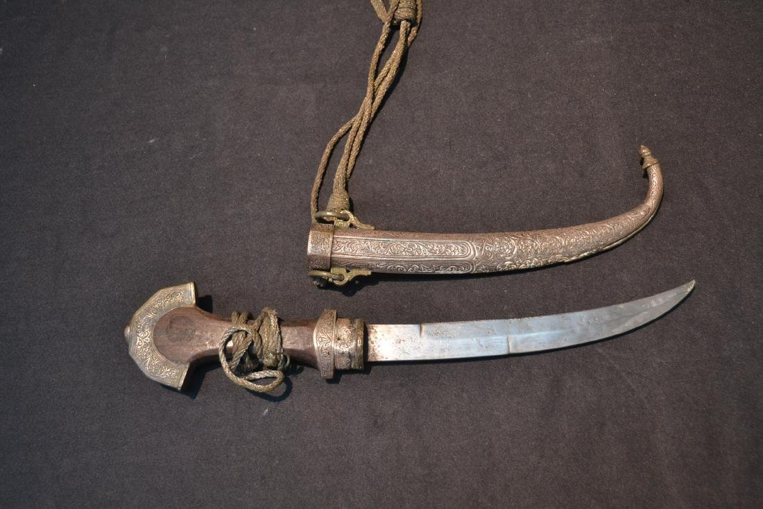 """MIDDLE EASTERN SILVER DAGGER - 5"""" x 14"""" - 2"""