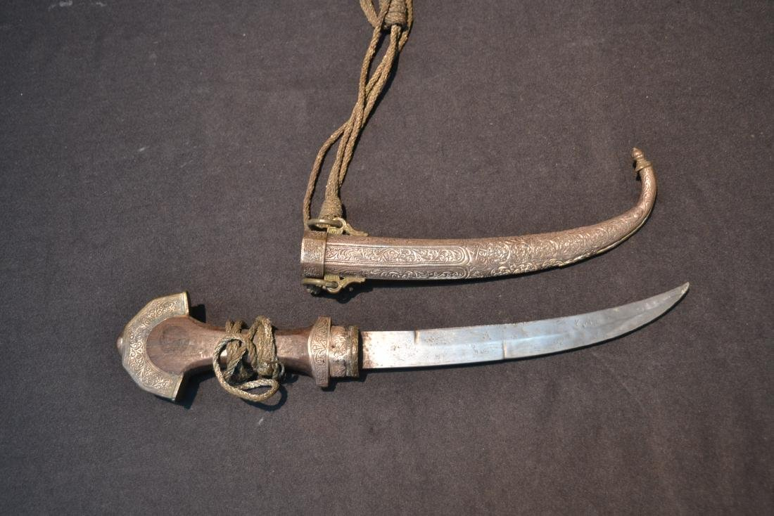 """MIDDLE EASTERN SILVER DAGGER - 5"""" x 14"""" - 3"""