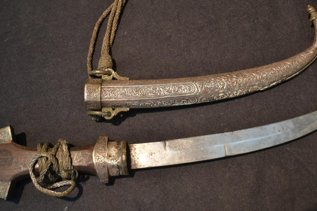 """MIDDLE EASTERN SILVER DAGGER - 5"""" x 14"""" - 6"""