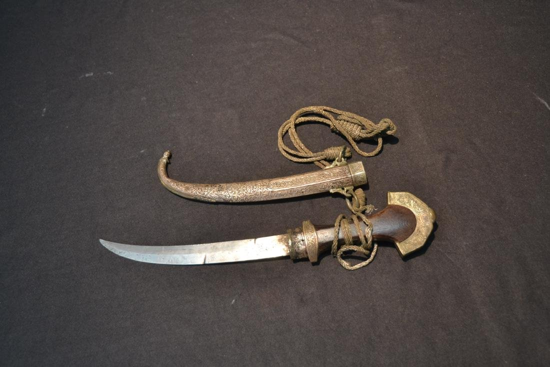 """MIDDLE EASTERN SILVER DAGGER - 5"""" x 14"""" - 8"""