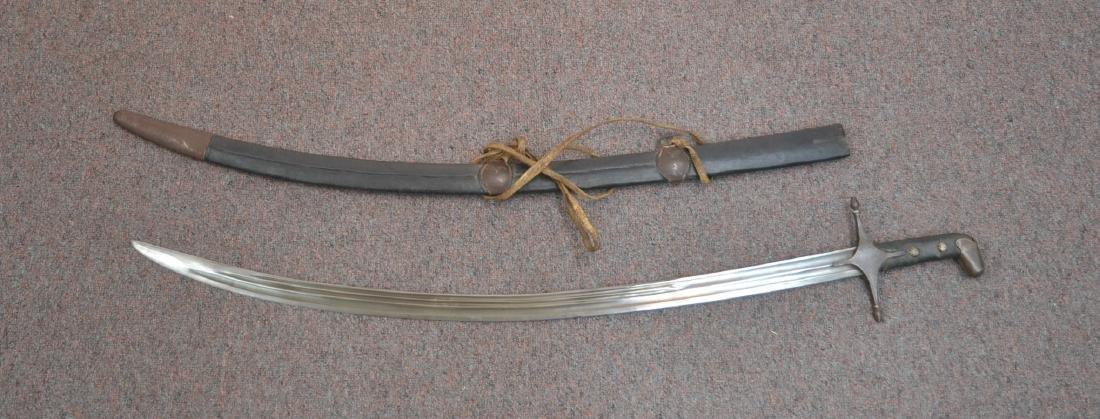 "19thC SHAMSHIR CAUCASIAN SWORD - 5 1/2"" x 38"""