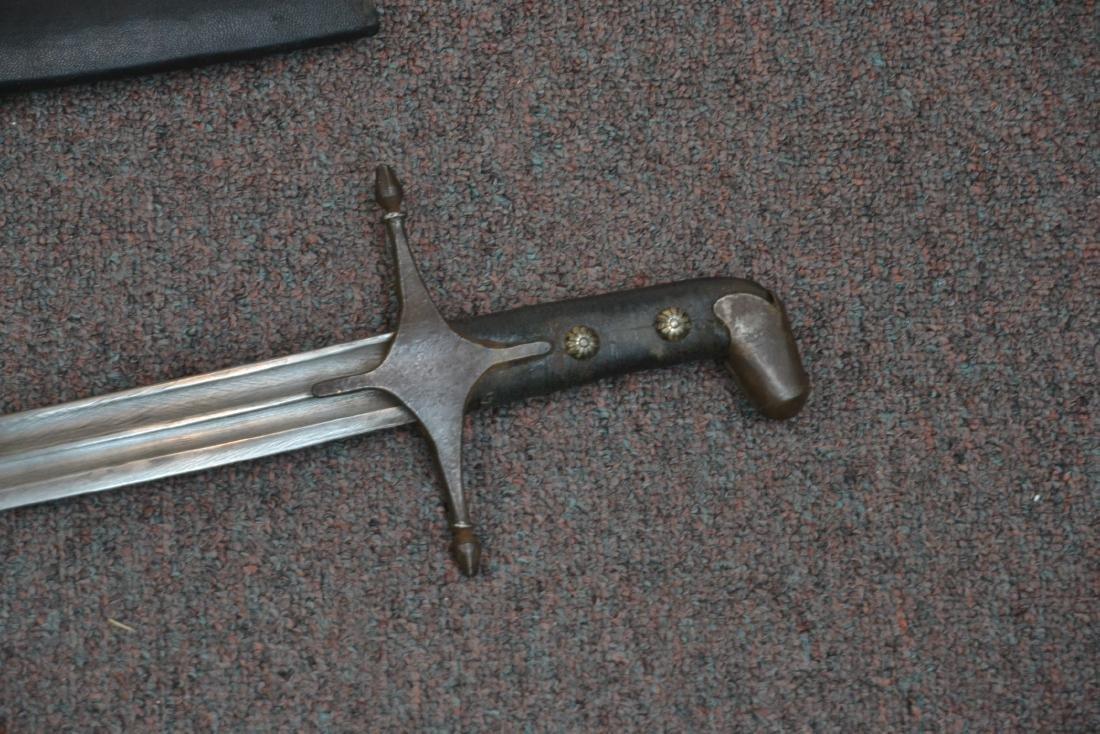 "19thC SHAMSHIR CAUCASIAN SWORD - 5 1/2"" x 38"" - 4"