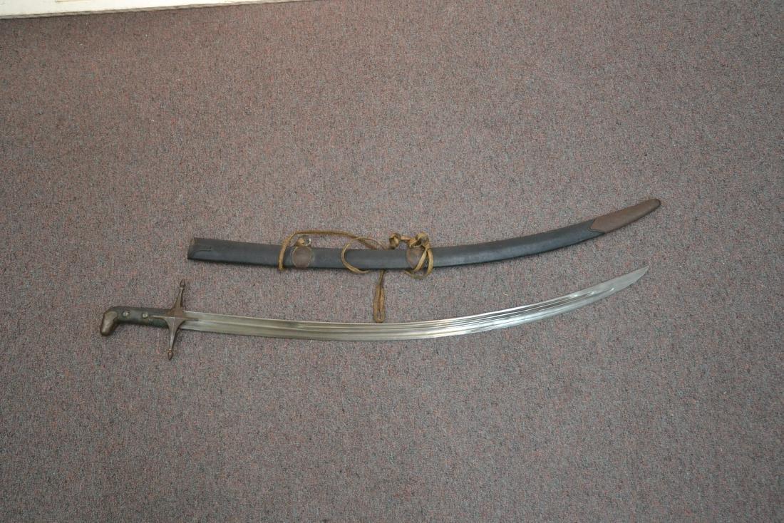 "19thC SHAMSHIR CAUCASIAN SWORD - 5 1/2"" x 38"" - 8"