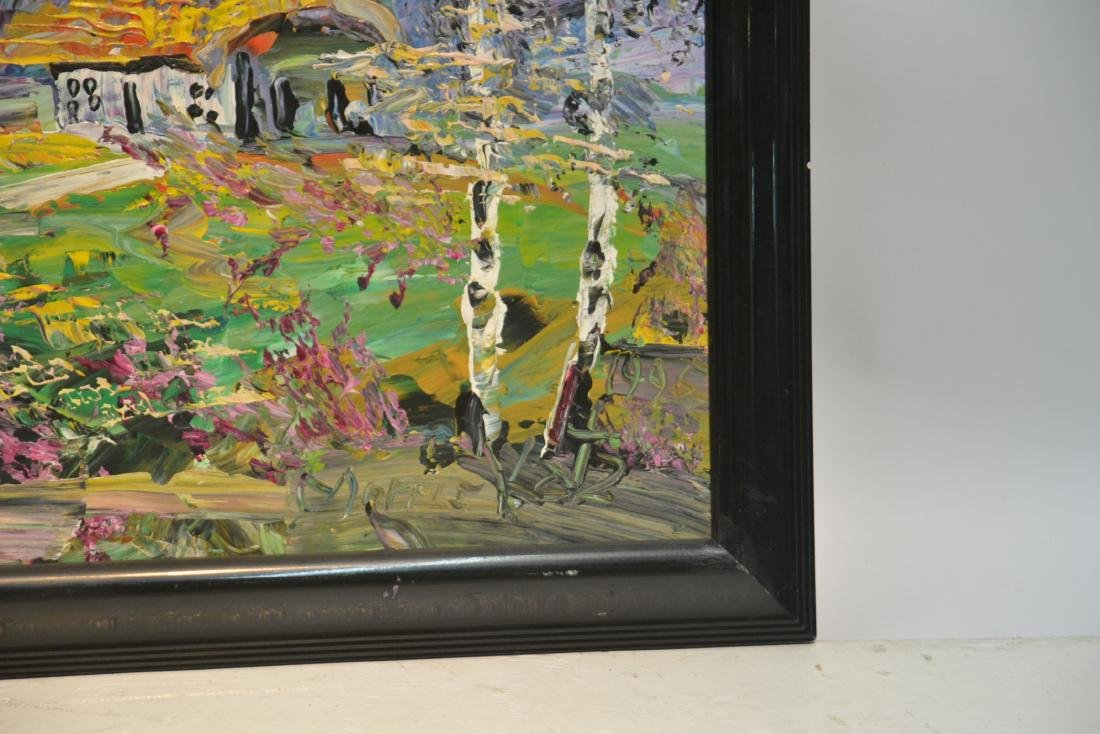 MORRIS KATZ , OIL ON BOARD CABIN & TREES IN - 5
