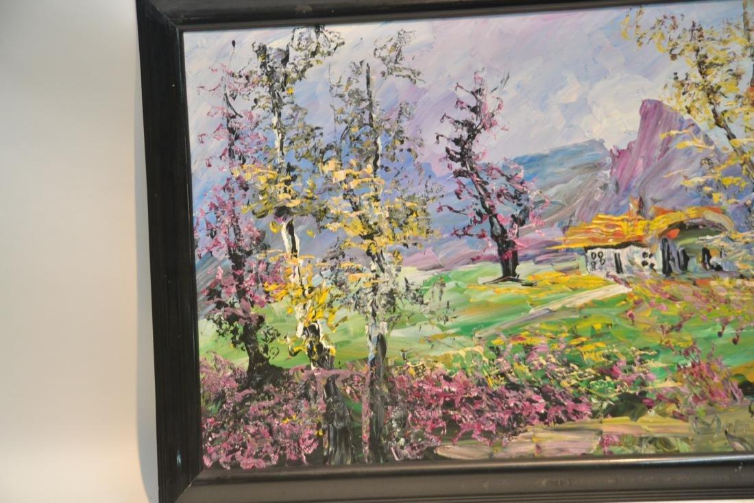 MORRIS KATZ , OIL ON BOARD CABIN & TREES IN - 6