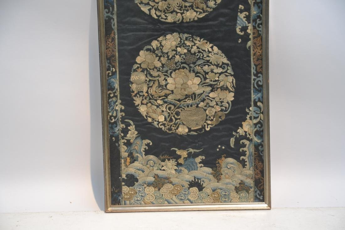 "ANTIQUE CHINESE NEEDLE WORK - 18 1/2"" x 41"" - 3"