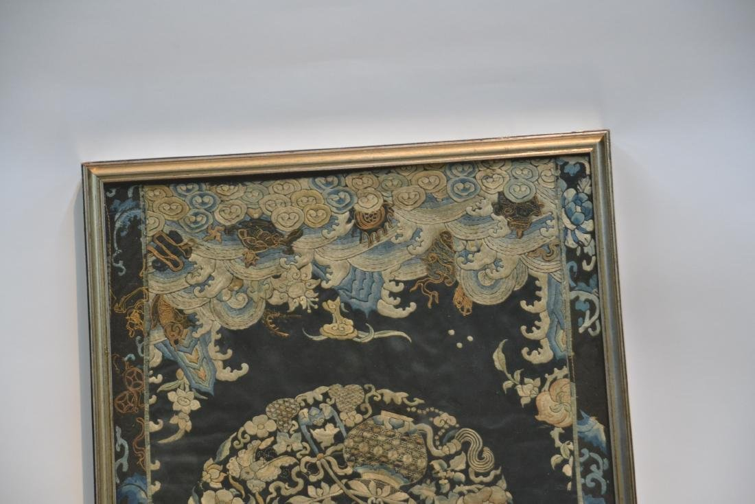"ANTIQUE CHINESE NEEDLE WORK - 18 1/2"" x 41"" - 5"